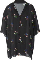 Cynthia Rowley Getaway Printed Silk Cabana Top