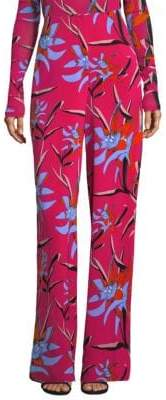 Diane von Furstenberg Floral Wide Leg Pants
