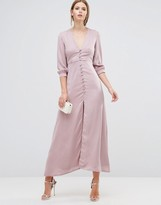 Oh My Love Button Down Maxi Dress