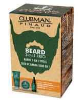 Clubman Beard 3-In-1 Trio Set by 3pcs Set)