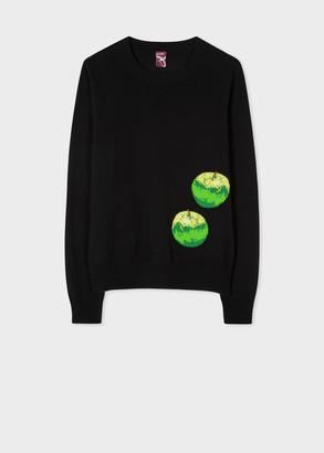 Paul Smith Women's Black 'Green Apple' Cashmere Sweater
