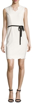 Ava & Aiden Scallop Trim Colorblock Sheath Dress