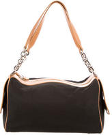 Tod's Leather-Trimmed Shoulder Bag