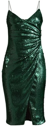 Black Halo Bowery Sequin Slip Dress