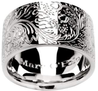 Marc O'Polo Ba9190210106 Pattern Silver Carnelian Ring Size M