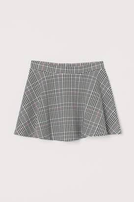 H&M Jersey Skater Skirt - White