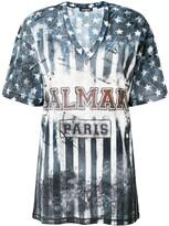 Balmain U.S.A. print T-shirt