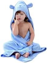 Feoya Cute Bear Baby Infant Bath Towel Hooded Soft Washcloth