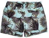 River Island MensGreen palm tree print swim trunks