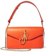 J.W.Anderson Logo Textured-leather Shoulder Bag - Orange