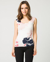 Le Château Floral Print Viscose Blend Sweater Shell