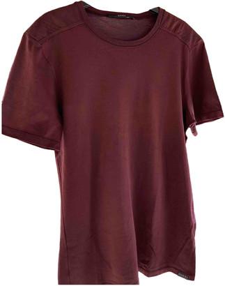 Gucci Burgundy Cotton T-shirts