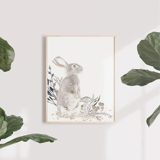 Oilo Wall Art Paper Cottontail Stand 11 x 14