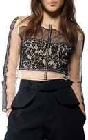 KENDALL + KYLIE Long Sleeve Eyelash Lace Top