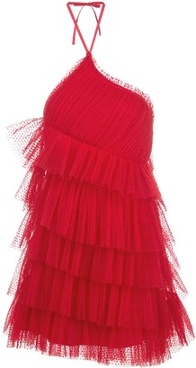 Alexis Raina ruffled-tulle mini dress