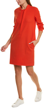 Piazza Sempione Wool-Blend Shift Dress