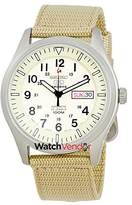 Seiko Men's 5 Automatic SNZG07K Tan Nylon Automatic Watch