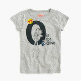 """J.Crew Girls' """"O is for Olive"""" T-shirt"""