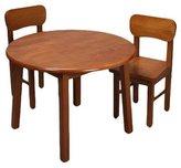 Gift Mark Giftmark 1407H Natural Hardwood Round Table and Chair Set- Honey Finish