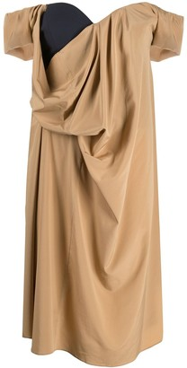 Chalayan Open Neck Tuck Dress