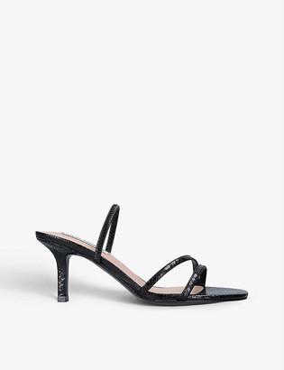 Steve Madden Loft snakeskin-print faux-leather sandals