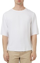 Topman Raw Edge Three Quarter Sleeve T-Shirt