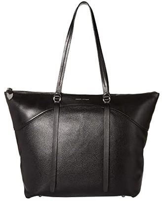 Rebecca Minkoff Signature Top Zip Tote (Black) Handbags