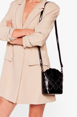Nasty Gal Womens WANT Put That Bag Round Bucket Bag - Black - One Size