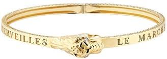 Gucci 18kt yellow gold Le Marche des Merveilles tiger head bangle