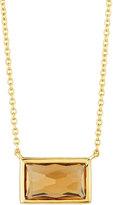 Ippolita Rock Candy® 18k Gelato Small Citrine Baguette Pendant Necklace