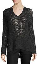 Line Carlyle Alpaca-Blend Open-Knit Sweater