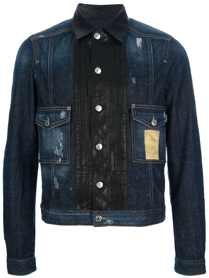 DSquared Dsquared2 distressed denim jacket