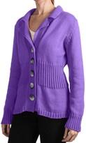 Pure Handknit Earth Blazer Sweater (For Women)
