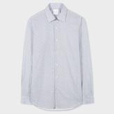 Paul Smith Men's Tailored-Fit Light Blue 'Fern Floral' Print Cotton Shirt