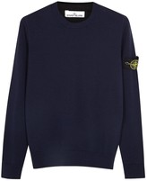 Stone Island Navy Fine-knit Wool Jumper