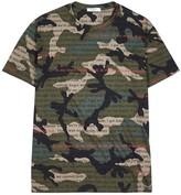 Valentino Camouflage love-print cotton T-shirt