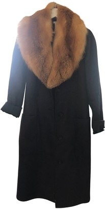 Celine Navy Fur Coat for Women Vintage