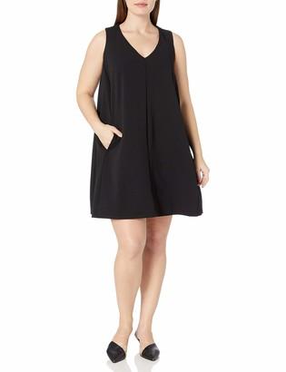 ABS by Allen Schwartz Women's Plus Size Sleevess Trapeze Dress