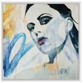 PTM Images Assortment Framed Canvas Graffiti Girl Wall Art