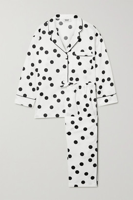 Sleepy Jones Marina Polka-dot Cotton-poplin Pajama Set - White