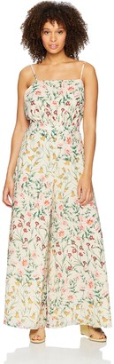 Ali & Jay Women's Floral Lady Sleeveless Flared Open Back Jumpsuit