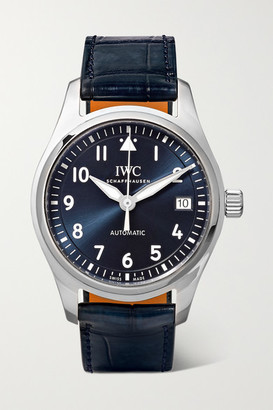 IWC SCHAFFHAUSEN - Pilot's Automatic 36mm Stainless Steel And Alligator Watch - Silver