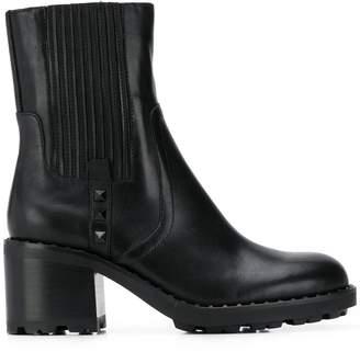 Ash block heel ankle boots