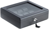 Bey-Berk Bey Berk Leatherette Woven 15-Watch Case