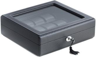 Bey-Berk Leatherette Woven 15-Watch Case