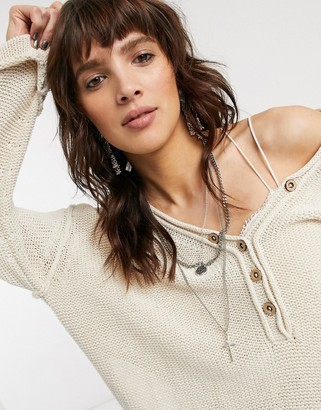 Free People Firefly lightweight knit top