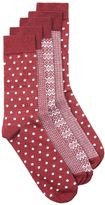 Topman Burgundy Assorted Pattern Socks 5 Pack