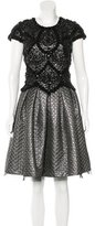 Naeem Khan Embellished A-Line Dress w/ Tags