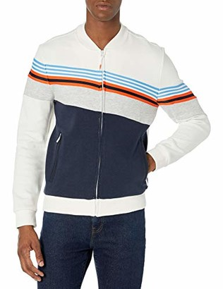 Sean John Men's Angled Color Blocked Track Jacket