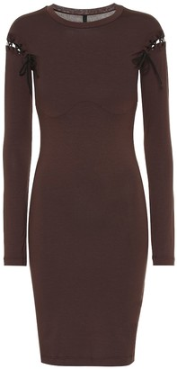 Unravel Stretch jersey minidress